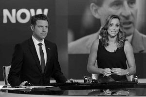 TV Presenter Tony Wrighton with Anna Woolhouse